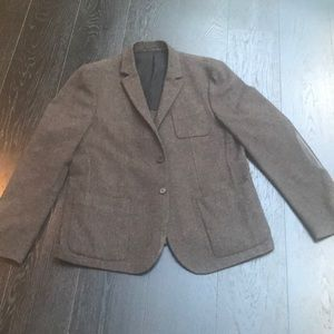 Men's All Saints Wool Blazer with lamb leather. 44